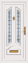 Tulla Two Upvc front doors