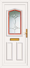 White pvc replacement front door