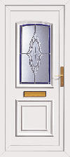 White panel styled front door