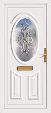 Resin panel upvc front doors