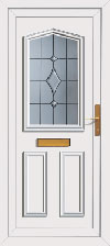 Oak glazed front door