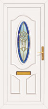 Lundie Gold Reims upvc front doors