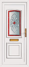 Coloured upvc external door