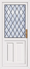 Dundee diamond leaded pvc back door