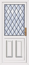 Cross leaded pvc back door