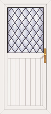 Fife diamond leaded upvc back door