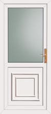 Greenock double glazed upvc back door
