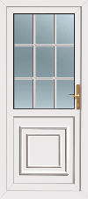 Upvc Georgian rear door