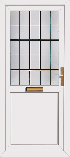upvc back door without letterplate