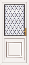 Pvc back door with no letterplate