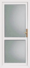Double glazed upvc back door