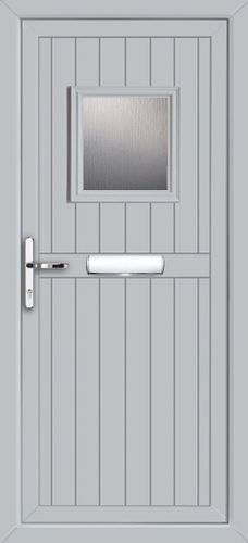Light Grey Glazed UPVC Door  sc 1 st  UPVC Doors Front Doors Back Doors Internal Doors Pvc door & Coloured upvc doors