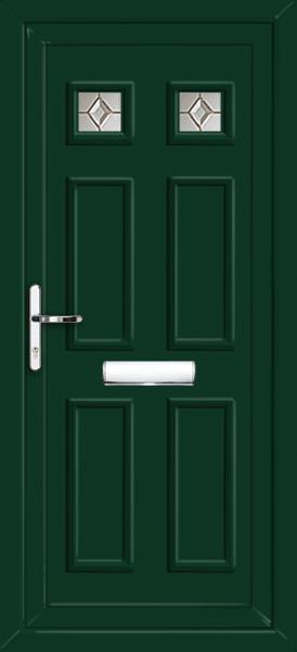 Pvc Doors Uk : Green pvc door