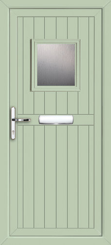Coloured door upvc front door in green for Upvc front door 78 x 30