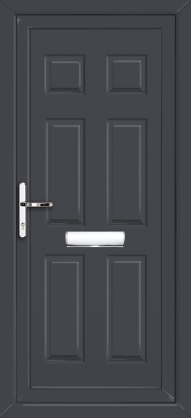 Anthracite Gray UPVC Door