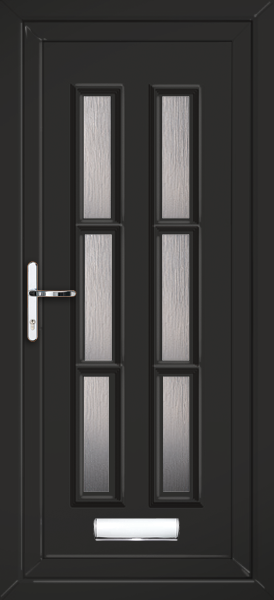 Black Glazed Pvc Front Door