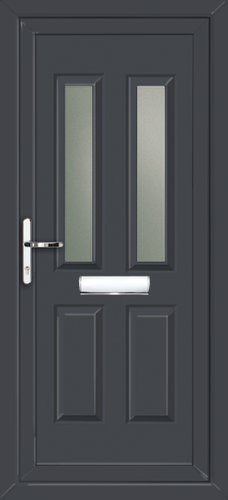 Anthracite grey pvc front door for Coloured upvc doors