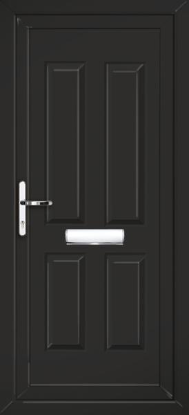 Black Glazed Front Door