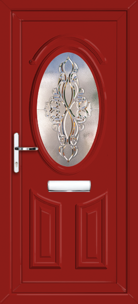 Red Glazed UPVC Door