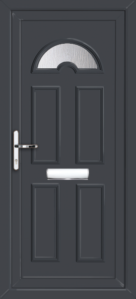 Anthracite Grey Glazed UPVC Front Door