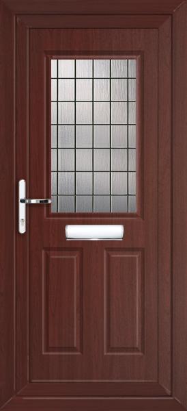 Rosewood UPVC Front Door