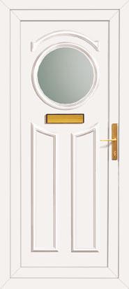 Round Glass Pvc Front Door