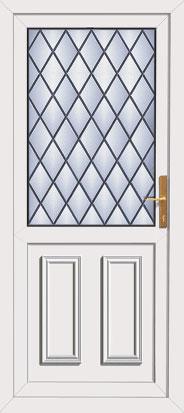 Upvc front doors Edinburgh style