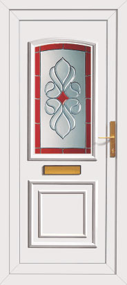Upvc exterior coloured front door for Coloured upvc doors