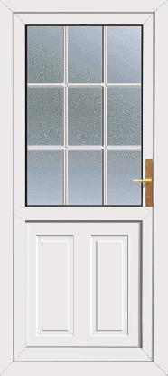 Upvc door with white bar for Ready made upvc doors
