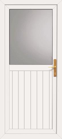 Upvc fife back door for Double back doors