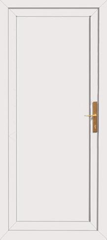 Full Plastic Panel Pvc Back Door
