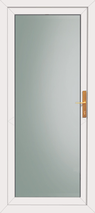 Fully glazed back door for Double back doors