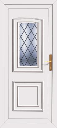 Diamond lead pvc back door for Ready made upvc doors