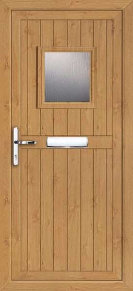 Glazed irish oak pvc door for Coloured upvc doors