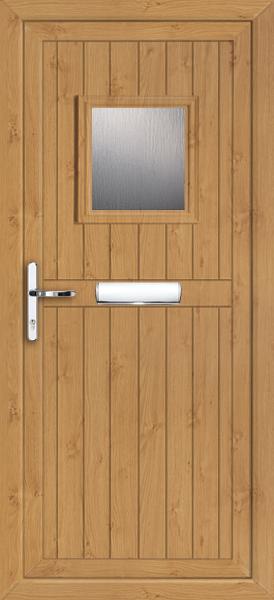 Pvc Doors Ireland : Glazed irish oak pvc door