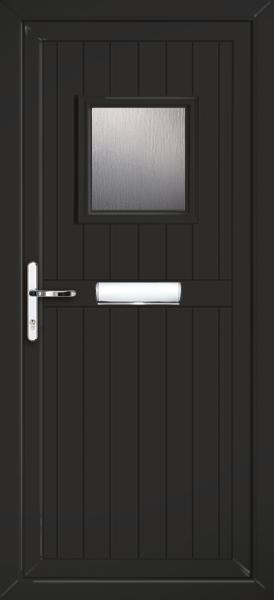 Glazed black pvc door for Ready made upvc doors