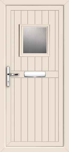 Cream glazed upvc door for Coloured upvc doors