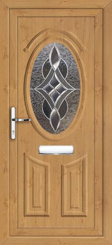 Irish oak upvc front door for Coloured upvc front doors