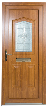 Blue upvc front door for Coloured upvc doors