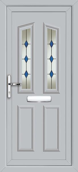 Light grey upvc front door for Ready made upvc doors