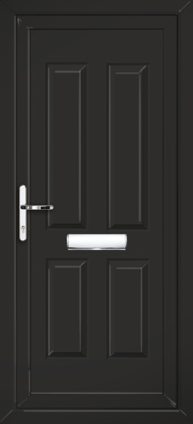 Black glazed upvc front door for Coloured upvc doors