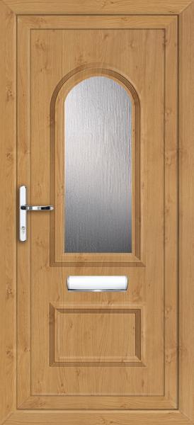 Irish oak pvc door for Coloured upvc front doors