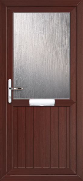 Rosewood upvc front door for Wooden back door and frame