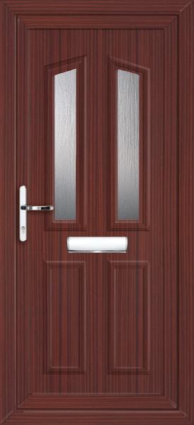 Mahogany upvc front door for Ready made upvc doors