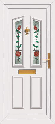 Upvc Front Doors With Autumn Glass