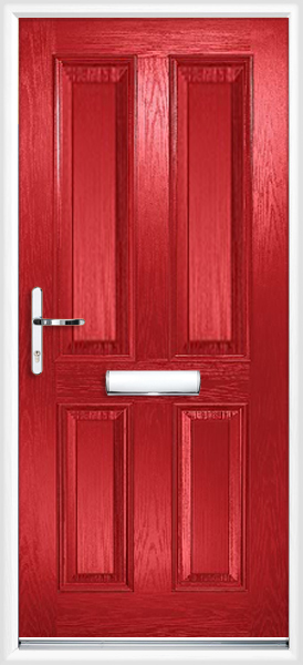 Red Clifton Composite Doors