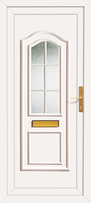 Upvc front door with white georgian bar for Upvc french doors with georgian bar