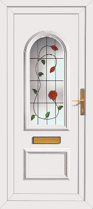 Upvc front door with climbing rose for Upvc front door 78 x 30